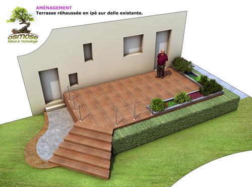 Particuliers architecture paysag re osmose nature et for Projet terrasse en 3d