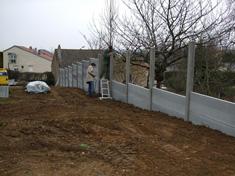 Particuliers nous r alisons les cl tures et portails osmose nature et technologie - Cloture jardin en beton orleans ...